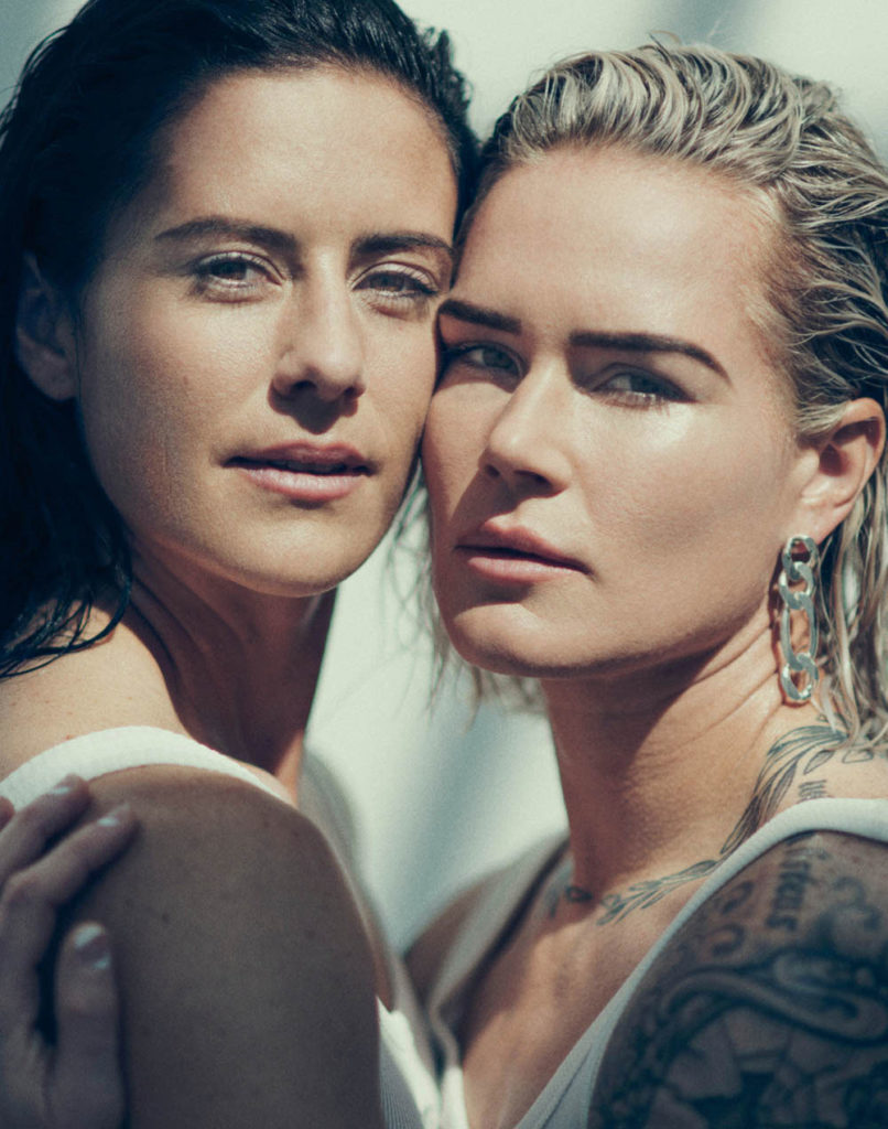 Ali Krieger and Ashlyn Harris by Norman Jean Roy for Allure US August 2020