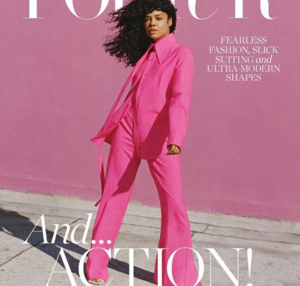 Tessa Thomson by Shaniqwa Jarvis for Porter Magazine August 2020